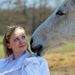 Pferd und Mensch im Freien